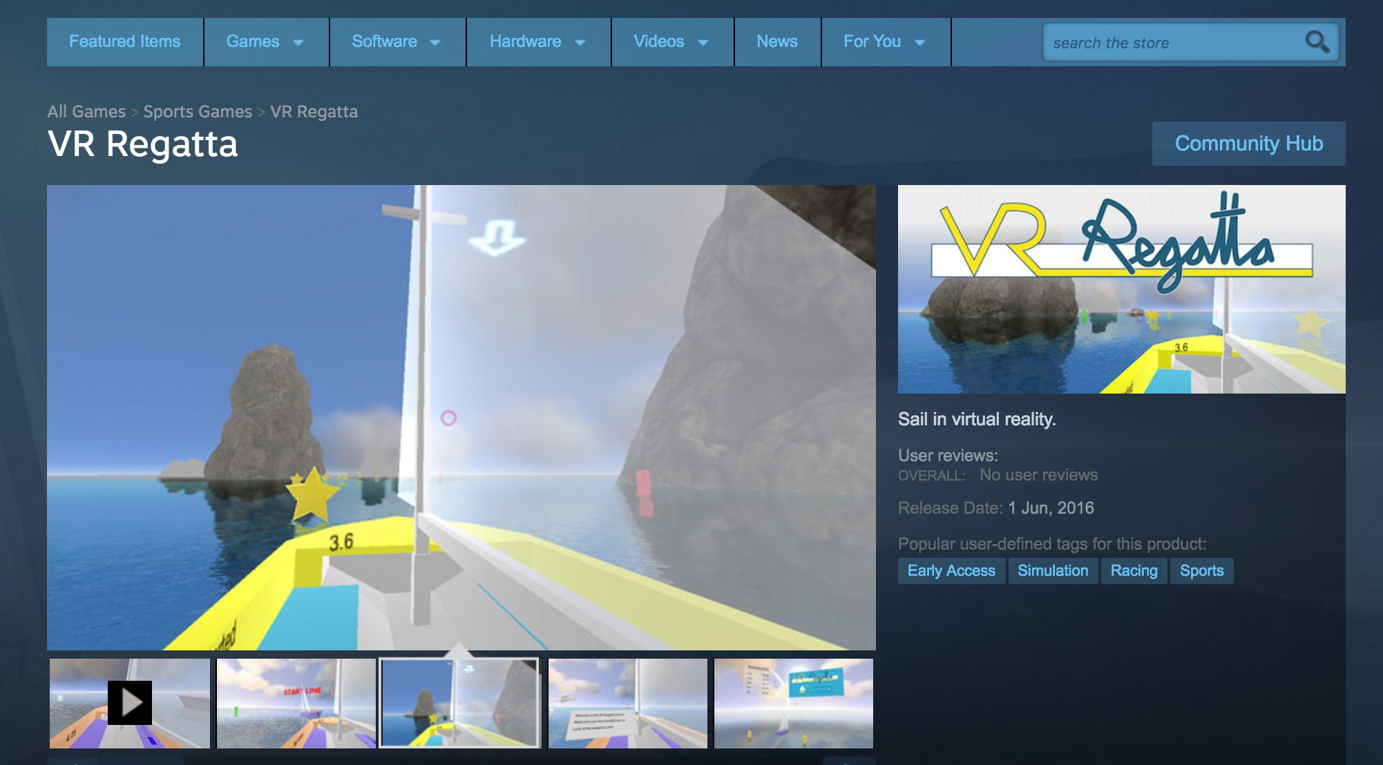 VR Regatta on Steam